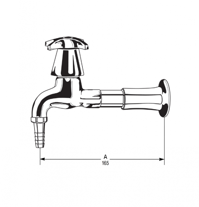 LB1 Line Drawing - Celestial Handle Pictured