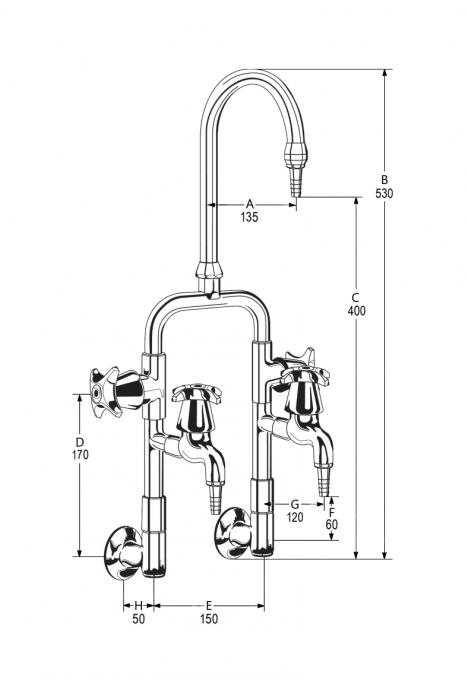 LB37 Line Drawing - Celestial Handles Pictured