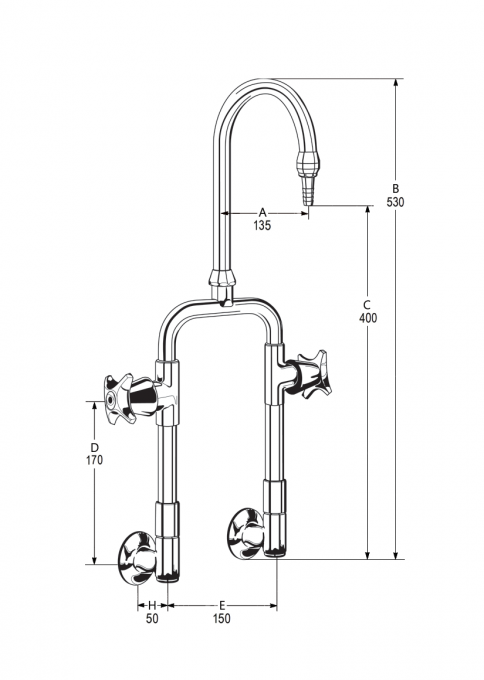 LB38 Line Drawing - Celestial Handles Pictured