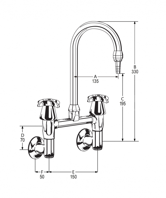 LB40 Line Drawing - Celestial Handles Pictured