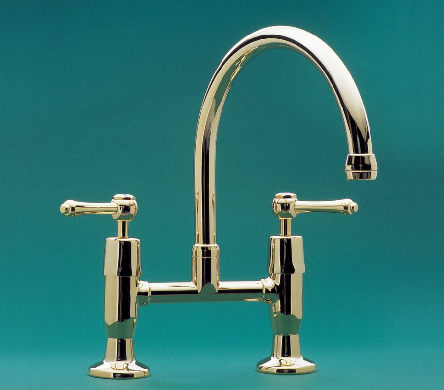 CB   Roulette Lever Exposed Hob Sink Set with Top Taps & Swivel ...
