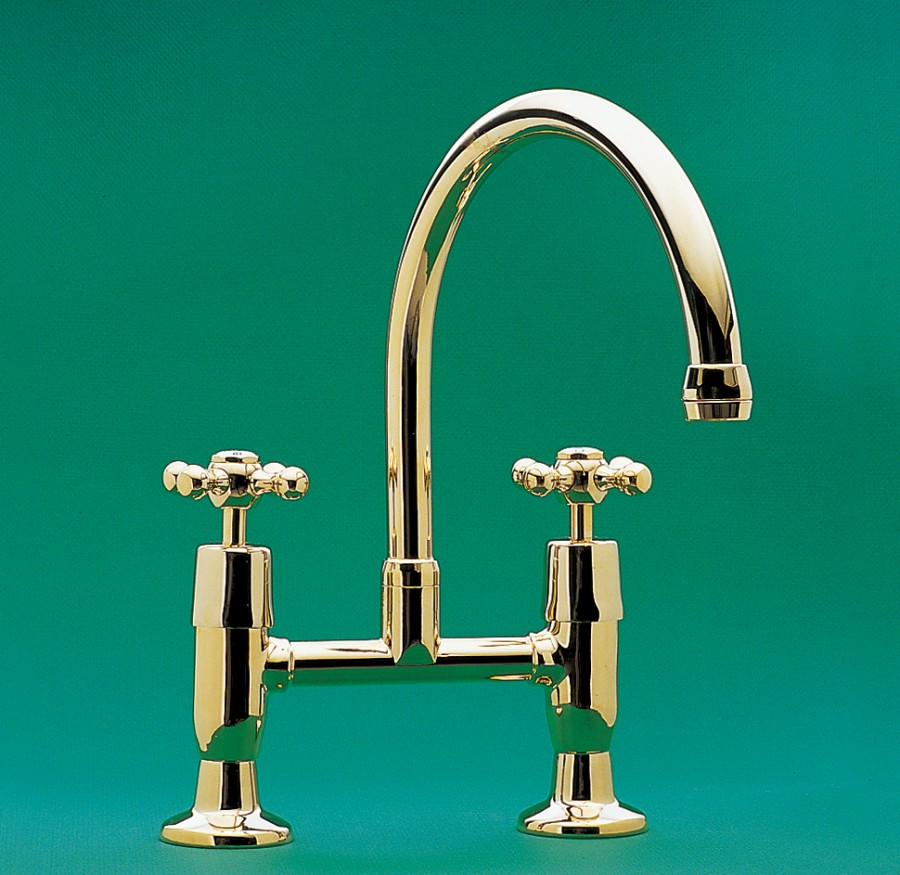 CB | Roulette Exposed Hob Sink Set with Top Taps & Swivel Gooseneck ...