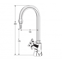 LB12R Line Drawing - Celestial Handle Pictured