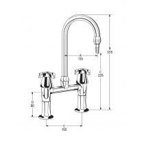 LB35 Line Drawing - Celestial Handles Pictured