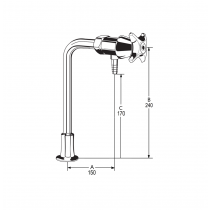 LB50 Line Drawing - Celestial Handle Pictured