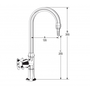 LB12 Line Drawing - Celestial Handle Pictured