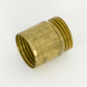 Bonnet Thread Extension (15 BSP) (Adds 15mm to Bonnet Thread) [Raw Brass]