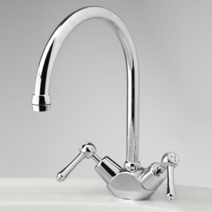 Roulette Lever Sink Duo Mixer with Swivel Hi-Rise Gooseneck Outlet
