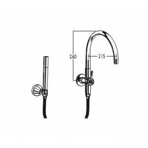 CB Ideal Floline Spa Filler Diverter Outlet Only with Microphone Handshower