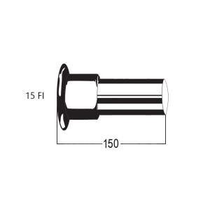 150mm Extension Component Only for 3 Piece Diverter Outlet (8458)