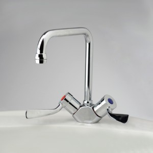 Torrens Flared Lever Sink Duo Mixer with Swivel Square Outlet
