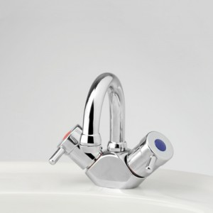 Torrens Lever Basin Duo Mixer with Swivel Gooseneck Outlet
