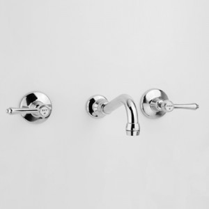 Olde Adelaide Bath Set with Aerated Outlet & Roulette Lever Handles