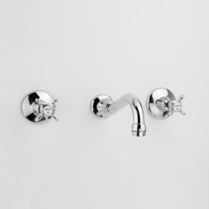 Olde Adelaide Bath Set with Aerated Outlet & Heritage Handles