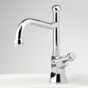 Olde Adelaide Drinking Water Pillar Tap with Swivel Outlet and Roulette Lever Handle