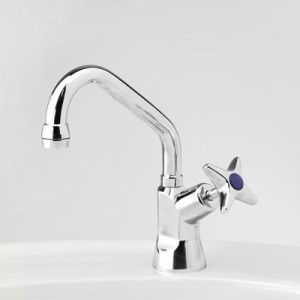 Bellevue Drinking Water Pillar Tap with Swivel Upswept Outlet