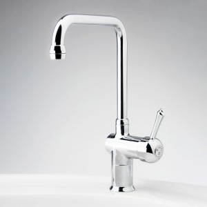 Roulette Lever Flick Mixer with Sink Square Outlet