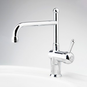 Roulette Lever Flick Mixer with Sink Victor Outlet