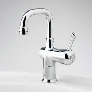 Roulette Lever Flick Mixer with Basin Square Outlet