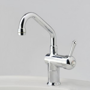 Roulette Lever Flick Mixer with Basin Upswept Outlet