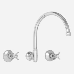 Heritage Wall Sink Set with Gooseneck Outlet