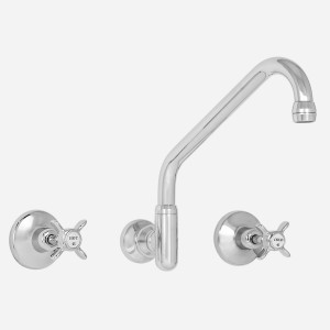 Heritage Wall Sink Set with Upswept Outlet