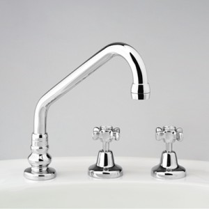 Heritage Hostess Sink Set with Swivel Upswept Outlet