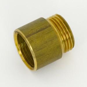 Bonnet Thread Extension (5/8 BSP) (Adds 15mm to Bonnet Thread) [Raw Brass]