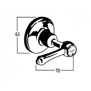 Roulette Lever Wall Top Assembly