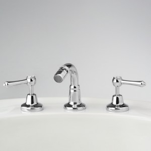 Roulette Lever Three Piece Bidet Set (No Plug Control)
