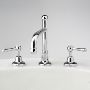 Roulette Lever Basin Set with Swivel Victor Outlet