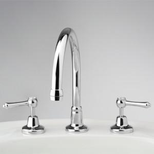 Roulette Lever Hob Sink Set with Swivel Gooseneck Outlet
