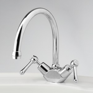 Roulette Lever Sink Duo Mixer with Swivel Gooseneck Outlet