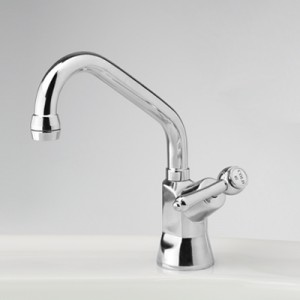 Roulette Lever Drinking Water Pillar Tap with Swivel Upswept Outlet