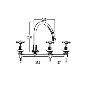 Roulette Filtered Water Forward Bowl Sink Set with Swivel Gooseneck Outlet
