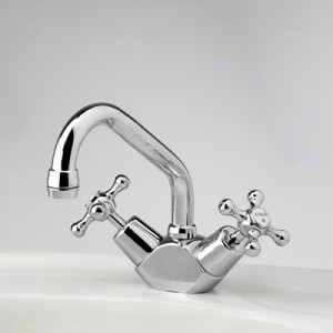 Roulette Basin Duo Mixer with Swivel Upswept Outlet