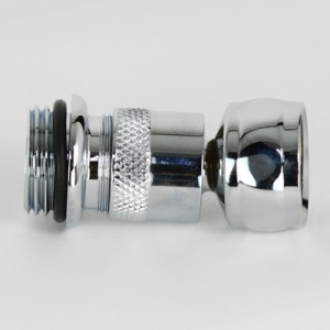 Ball Joint Section with Adapter to fit 140mm Overhead Shower Rose