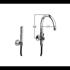 CB Ideal Floline Spa Filler Diverter Outlet Only with Microphone Handshower