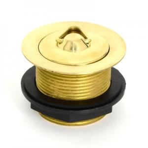 Solid Brass Plug & Waste - 40 x 45 - No Overflow