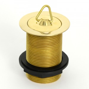 Solid Brass Plug & Waste - 40 x 80 - No Overflow