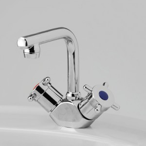 Torrens Capstan Basin Duo Mixer with Swivel T Outlet