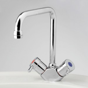 Torrens Lever Sink Duo Mixer with Swivel Square Outlet