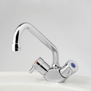Torrens Lever Sink Duo Mixer with Swivel Upswept Outlet
