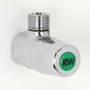 Lockshield Cistern Cock without Cover Plate with Rain Water Indicator Button