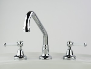 Photo: RL4738 in Chrome Plate (CP) finish with White Lever Insert Upgrade (LCNS)