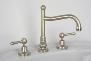 Photo: BA1412 in Brushed Nickel (BN) finish with Engraved Button Upgrade (EBU)