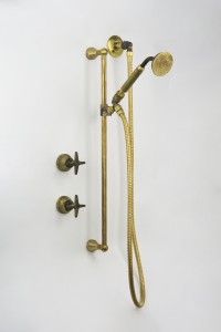 Photo: BA3060 in Raw Brass (RB) finish with Raw Brass for Handshower Handle