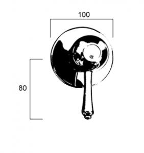 CB7500-RL Line Drawing