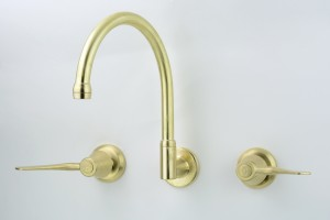 Photo: CL3614 with 115mm Levers in Lea Wheeled Brass (LW) Finish with Engraved Button Upgrade (EBU)