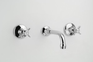 Photo: HE3001(Basin) in Chrome Plate (CP) finish - this is the basin configuration with aerator on end of outlet
